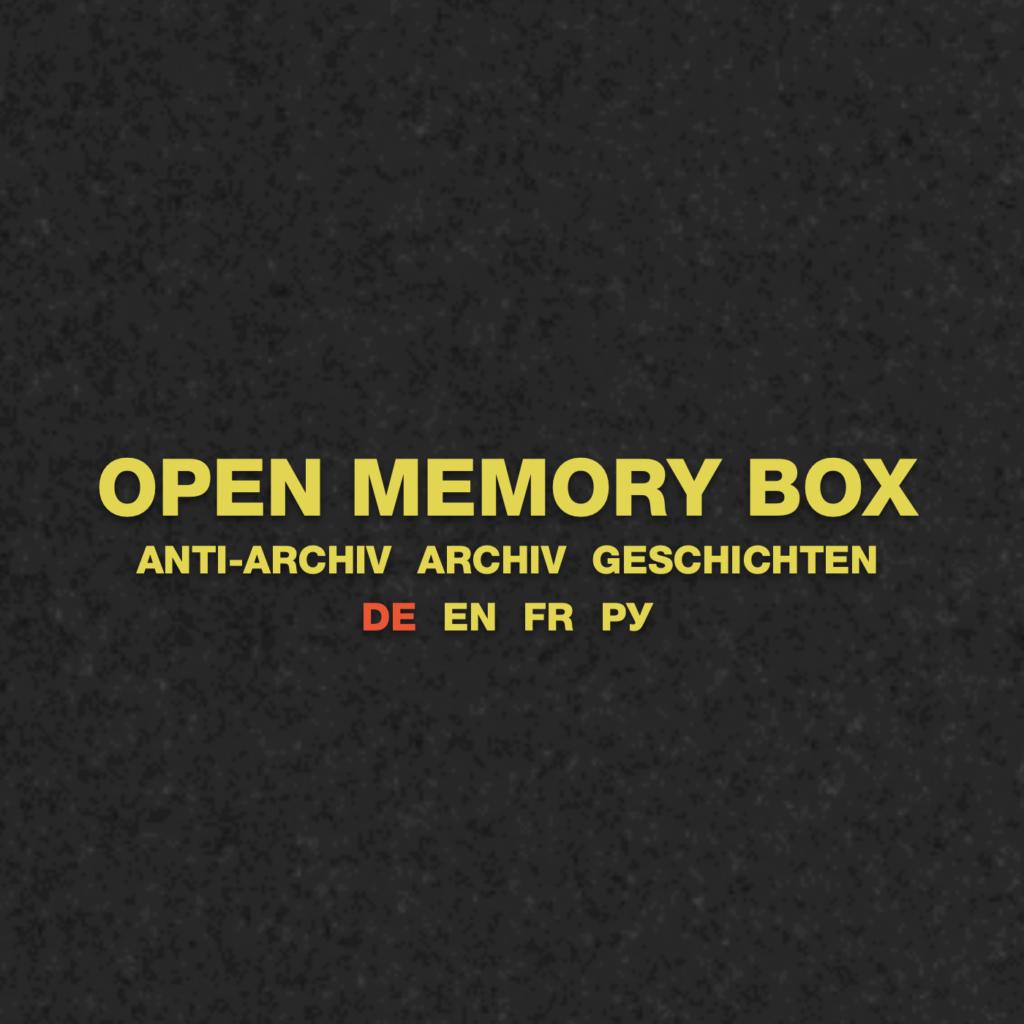 Open Memory Box