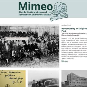 Mimeo - Simon Dubnow Institute